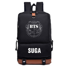 Korean Bangtan Boys BTS Rap Monste Canvas Bag Print Wave Point Rucksacks Backpack Girls Women School Travel Bags Love Yourself(China)
