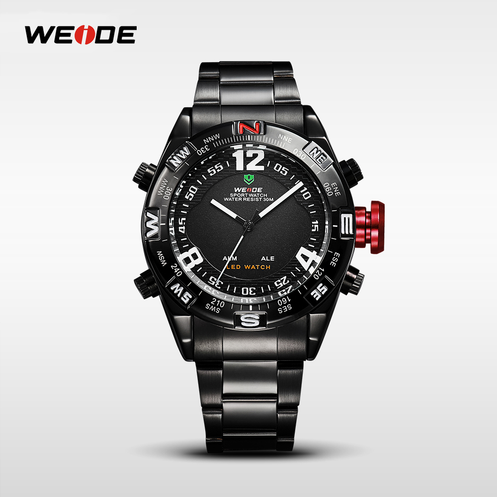 WEIDE Brand Luxury Watch Men High Quality Quartz Watches Digital Stainless Steel Relogio Masculino Dual Time Clock Man WH2310 onlyou brand luxury fashion watches women men quartz watch high quality stainless steel wristwatches ladies dress watch 8892