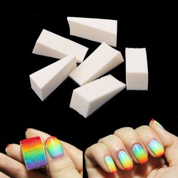 24 sztuk paczka DIY Nail Art gąbki polerka pilniki gradient zmień żelowy lakier do paznokci sprzęt narzędzia do manicure zestaw tanie i dobre opinie Art lalic C06061552 Sponge Kalus golarka Standard Triangle 24Pcs Pack for nail art gradient