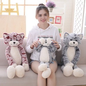 Image 5 - 50 cm 90 cm 고양이 플러시 장난감 검은 회색 고양이 플러시 장난감 사랑스러운 애니메이션 고양이 인형 어린이를위한 생일 선물 고양이 인형