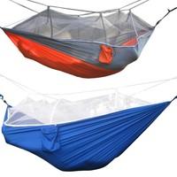 Al aire libre Mosquiteras 1-2 Persona paracaídas hamaca camping colgando cama columpio portátil Colchonetas de acampada