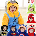 Autumn & Winter Newborn Infant Baby Clothes Fleece Animal Style Clothing Romper Baby Clothes Cotton-padded Overalls  HT148
