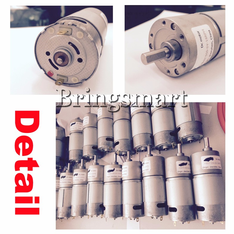 Электродвигатель 12 volt мотор редуктор DC 24v мотор-редуктор электромотор высокий крутящий момент моторы JGB37-550 Перевернутое вращение 8-2000 об / мин 2.5-60kg.cm