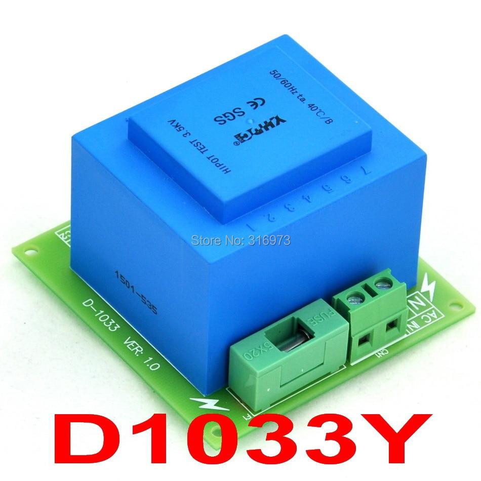 Primary 230VAC, Secondary 2x 18VAC, 20VA Power Transformer Module,D-1033/Y,AC18V