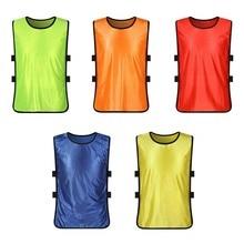 MrY детский командный спортивный детский футбольный тренировочный свитер Pinnies, тренировочный нагрудник, полный светильник для фитнеса, спортивный жилет