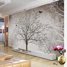 3D Мода Дерево фон нетканый материал водонепроницаемые обои спальня гостиная Современная роскошь на заказ декоративная Фреска#85