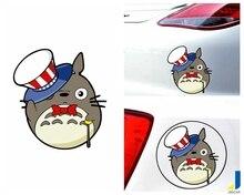 Cute Cartoon Cat Gentleman Hat Shape Modified Car Creative Sticker JSD-1067