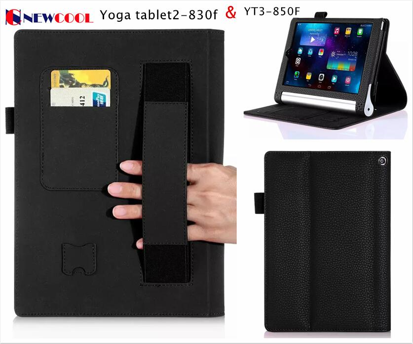 Flip Cover For Lenovo Yoga tab 3 850F YT3-850F 850M 850L 8.0 Tablet Case For Lenovo Yoga Tablet2 830f Wallet case Hand Holder mingshore durable protective case for yoga tablet 3 850 8 0 silicone cover for lenovo yoga tab 3 model 850f m l 8 0 tablet case