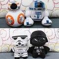 20 см Фаршированные Плюшевые Игрушки BB-8 Дарт Вейдер и Штурмовик R2-D2 Дети Мягкие Игрушки Pelucia Juguetes Подарок для Девушки мальчик