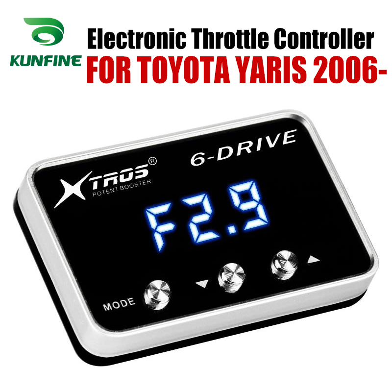 Car Electronic Throttle Controller Racing Accelerator Potent Booster For TOYOTA YARIS 2006-2019 Petrol  Tuning Parts AccessoryCar Electronic Throttle Controller Racing Accelerator Potent Booster For TOYOTA YARIS 2006-2019 Petrol  Tuning Parts Accessory