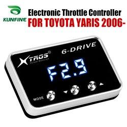 Elektroniczny regulator przepustnicy Racing akcelerator wspomagacz TOYOTA YARIS 2006-2019 części do tuningu benzynowego akcesoria