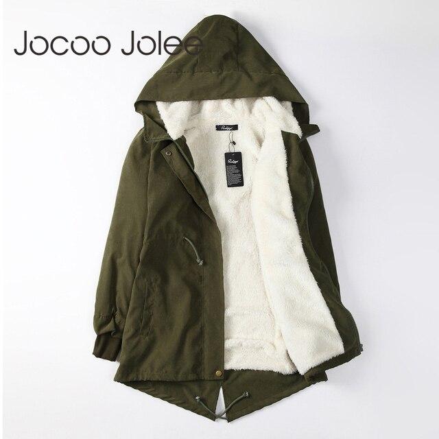 Jocoo Jolee Women Parkas Winter Coats Hooded Thick Cotton Warm Female Jacket Fashion Mid Long Wadded Coat Outwear Plus Size 5XL