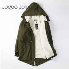 Jocoo Jolee Women Parkas Winter Coats Hooded Thick Cotton Wa