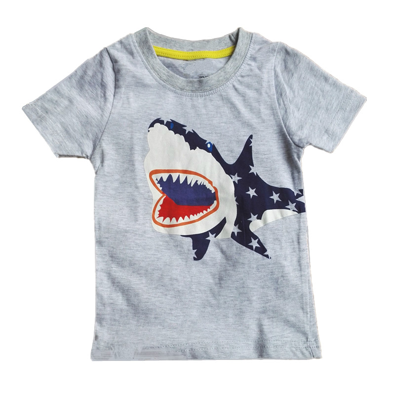 <font><b>Baby</b></font> Boy Tops Summer <font><b>Baby</b></font> <font><b>Tshirt</b></font> Boys Girls <font><b>Animal</b></font> Shark Funny Toddler T-shirt Children's Cartoon Clothes Fashion Design Cute image