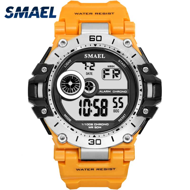 SMAEL Digital Wristwatch Clock Male Sport Waterproof Men Chrongraph Alarm 1548