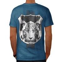 Tiger Calma Faccia Animale Uomo T-Shirt Posteriore NUOVO | Wellcoda