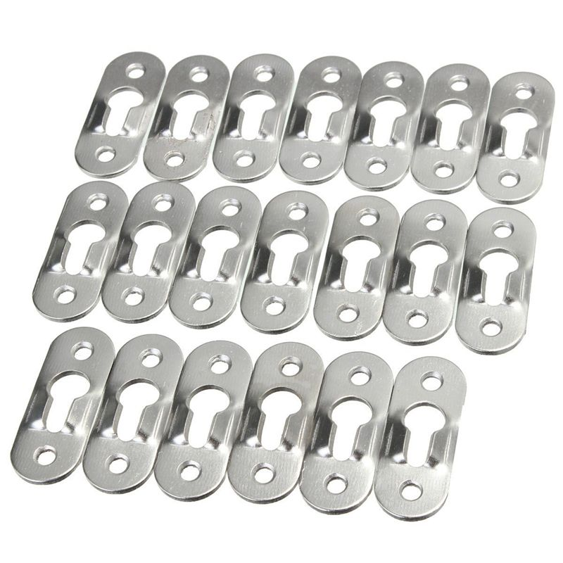 20 Pcs 44mm Metal Keyhole Hanger Fasteners Picture Photo Painting Fasteners