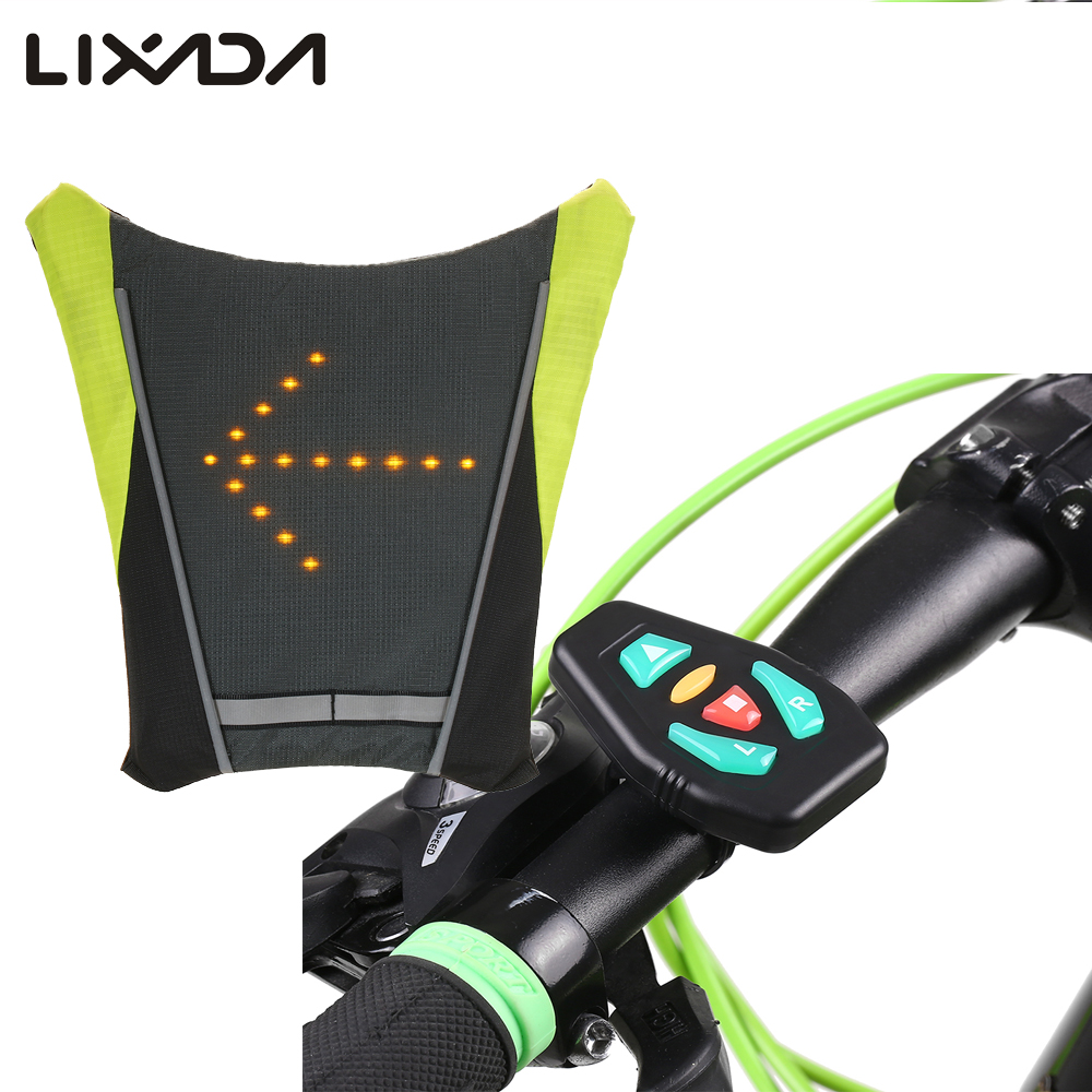 2019 New Usb Charging Led Light Warning Vest Backpack Mtb Bike Bag Safety Led Signal Vests Warning Accessories 100% Guarantee Back To Search Resultssports & Entertainment