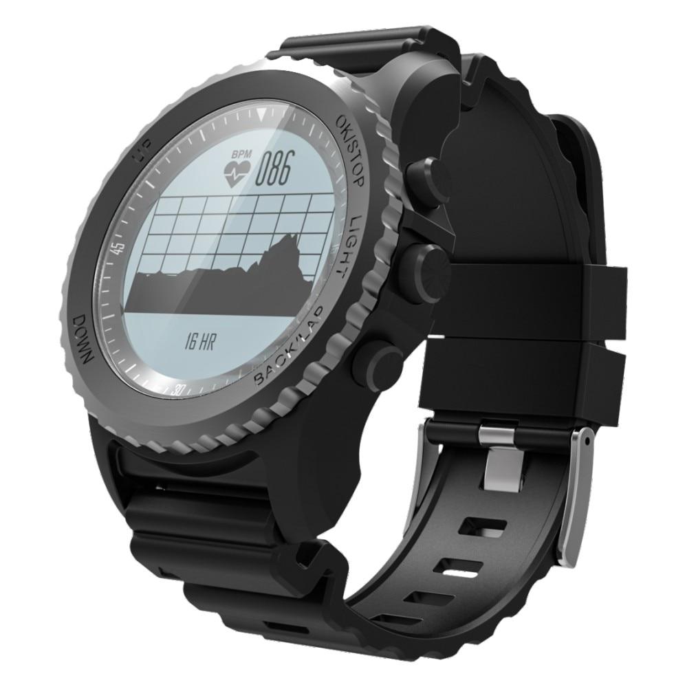 S968 Diving Sport Smart Watch Waterproof Sleep Heart Rate Monitor Barometer Thermometer Altimeter Pedometer GPS Smartwatch