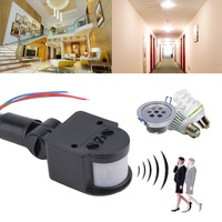 Uniwersalna profesjonalna lampa z czujnikiem ruchu przełącznik zewnętrzny AC 220V automatyczny przełącznik czujnika ruchu podczerwieni PIR ze światłem LED w Czujnik i detektor od Bezpieczeństwo i ochrona na