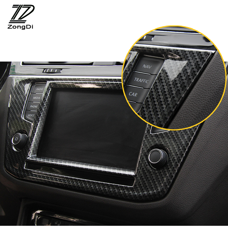 CAR.LOVELY Car Styling Seat Adjustment Button Switch Cover Interior Decoration for Volkswagen VW Tiguan MK2 2016 2017 2018 Accessories