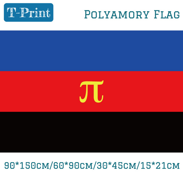 US $1 36 |90*150cm/60*90cm/15*21cm/30*45cm Car Flag Polyamory Pride Flag  3*5 Feet 100d Polyester-in Flags, Banners & Accessories from Home & Garden  on