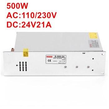1PCS AC-DC 500W 24V power supply 24V LED Driver 24V 20A power supply 24V 500W S-500-24 high power supply 110/220VAC input
