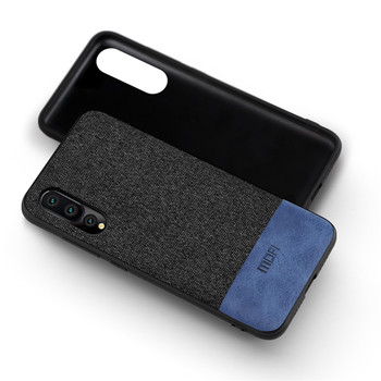 Huawei Case Phone P20 Back Cover Silicone Edge Fabric Protect