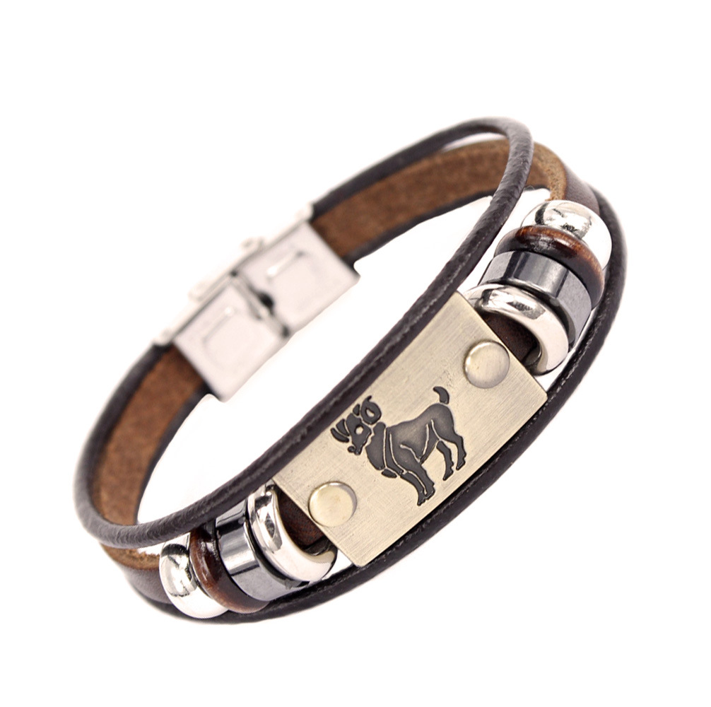 Bracelets & Bangles Romantic Xinyao Scorpio Virgo Libra Aries Zodiac Taurus 12 Constellation Bracelets Men Women Geniune Braided Leather Bracelet Men Jewelry Jewelry & Accessories