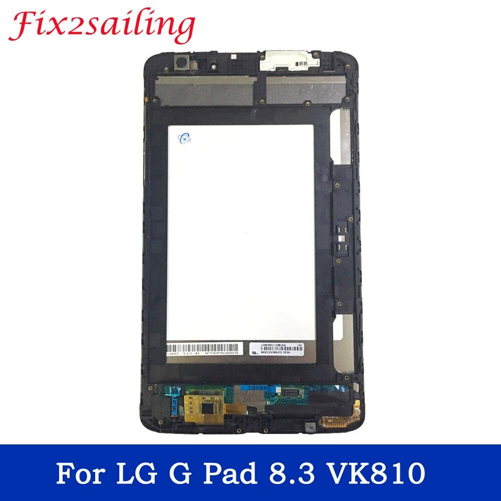 Affichage de haute qualité pour LG G Pad 8.3 VK810 écran LCD + écran tactile avec cadre numériseur assemblée remplacement G Pad 8.3 VK81