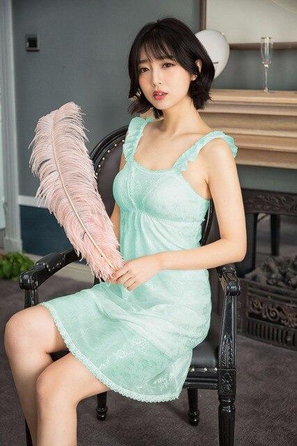 51b5a0ef13c Sexy Night Dress for Women 2018 Spring Summer Nightgown Female Korean Style  Sleepwear Sleepshirts Nightwear Shirt Women s Night
