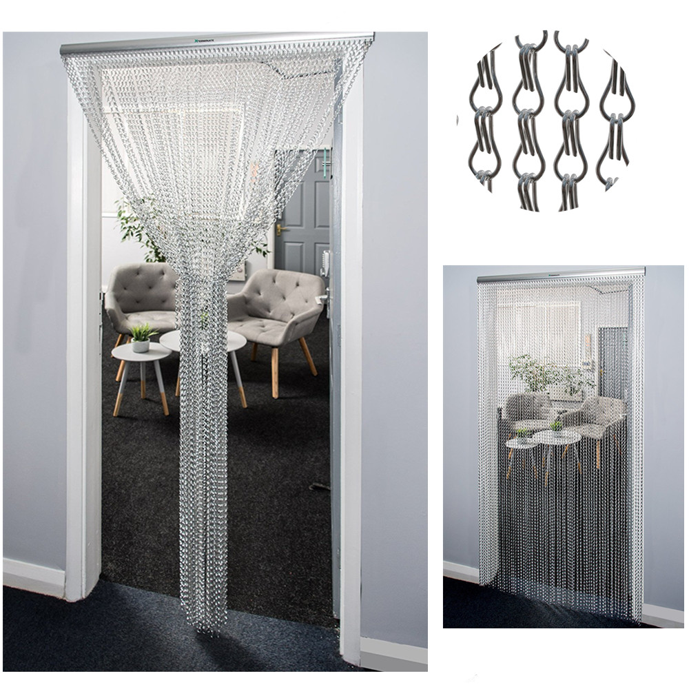 Metal Aluminium Chain Fly Insect Door Screen Curtain Pest Control Multi-Color