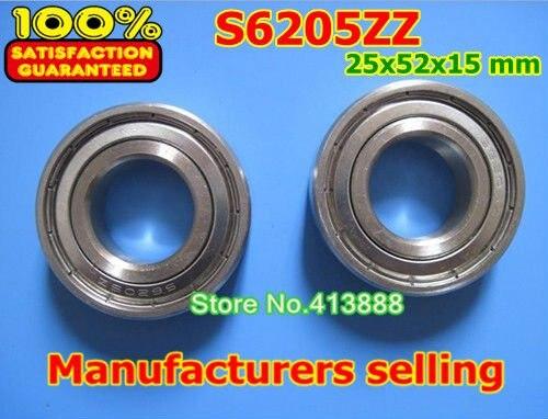 1 шт в наборе, SUS440C окружающей коррозии нержавеющей стали шариковые подшипники с глубоким желобом S6205ZZ 25*52*15 мм