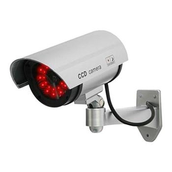 Wholesale UDC 4 silver Fake Security Camera with 30 Illuminating LEDs (Silver)
