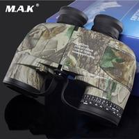 Military 10x50 HD Zoom Telescope Military Binocular Waterproof Anti fog with Built in Rangefinder Coordinate for Hunting