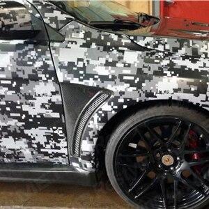 Branco preto Digital Camouflage Vinyl Film Car Enrole Pixel Motores de Caminhão Veículo Decalque Folha de Envolvimento Com bolha de ar livre