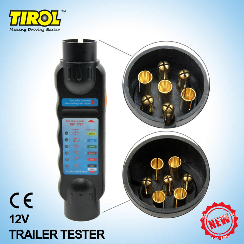hight resolution of detail feedback questions about tirol 7 pin towing trailer caravan trailer car 7 pin 12n towbar light wiring circuit tester preview