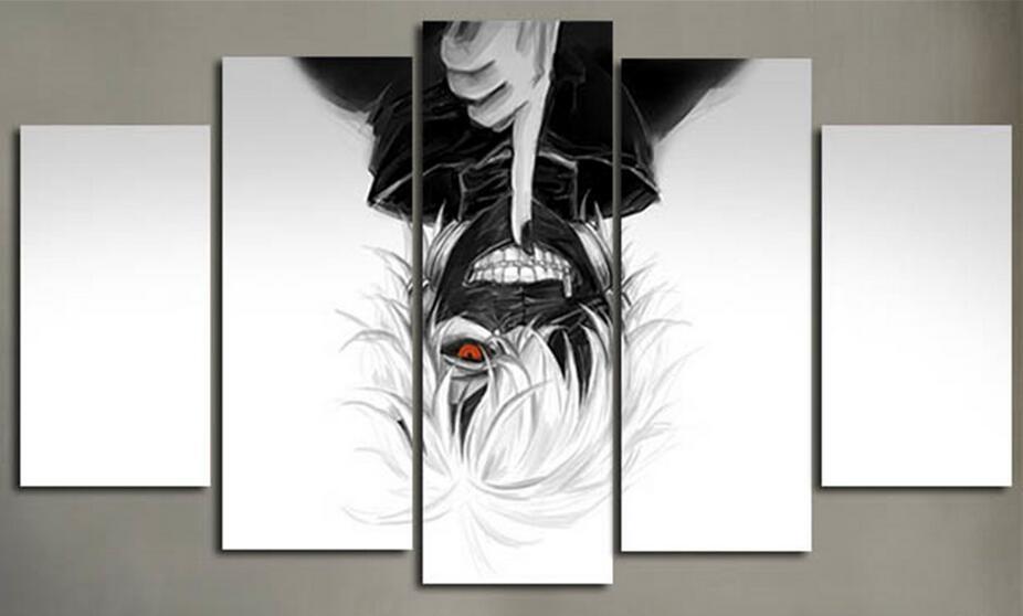 5 Piece Canvas Picture Prints Cartoon Painting Anmie Movie