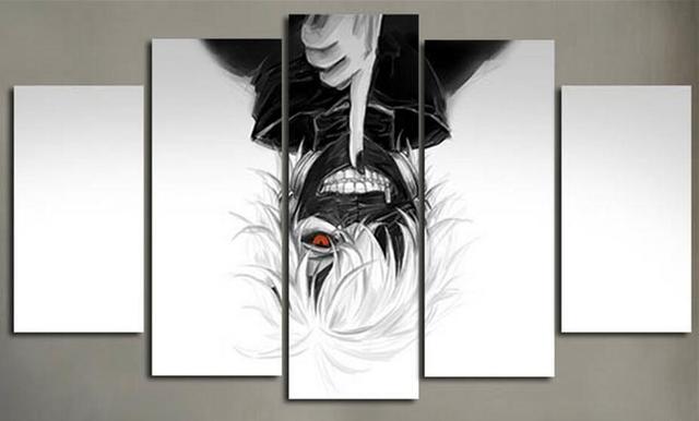 Aliexpress.com : Buy 5 Piece Canvas Picture Prints Cartoon Painting ...