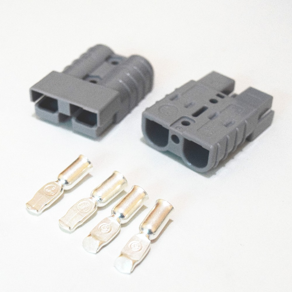 2 X Battery Quick Connector Kit 50A 6AWG Plug Connect Disconnect Winch Trailer