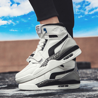 Men's air cushion basketball shoes sneakers Lightweight basketball shoes high shoes 39 46