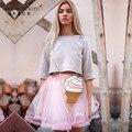 Cute pink corto tul faldas para mujer adultos tutu estilo american apparel un line jupe faldas saia femininas verano