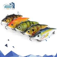Купить с кэшбэком 1 PC 6cm 8.6 g Hot sale Vib Crankbait Lifelike Fishing Lure 6 colors Fishing Bait Slow Sinking Hard Fish Wobbler for fish