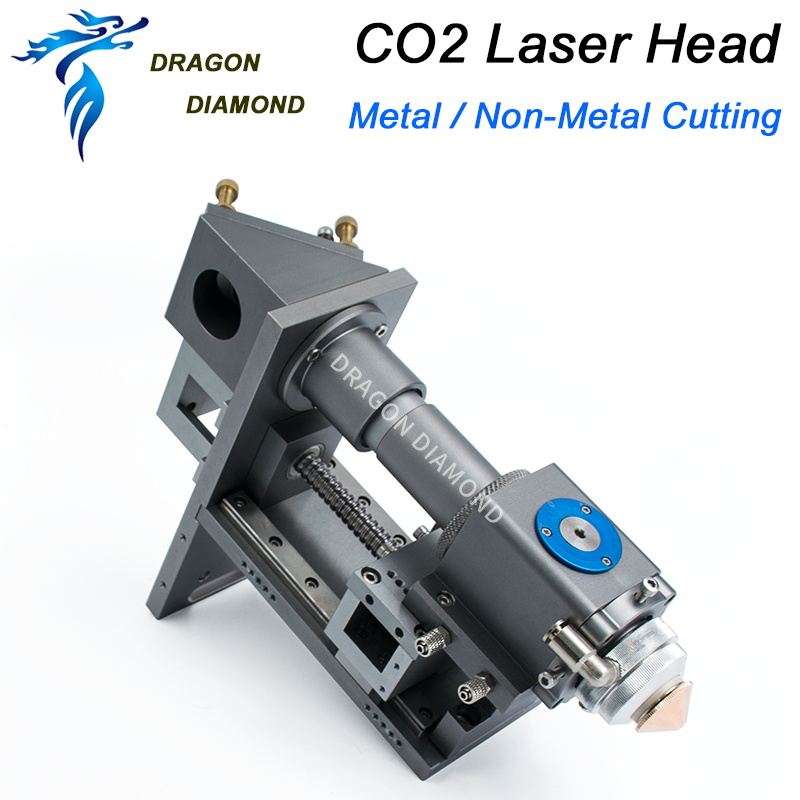 Metal Non-metal Mixture Cutting laser head 500W Metal cutting Laser Head for CO2 Laser Machine Lens Dia 25.4mm FL63.5 101.6 500w co2 laser cutting metal machine head and non metal mixed cut head motor and driver for laser cutting machine laser tools