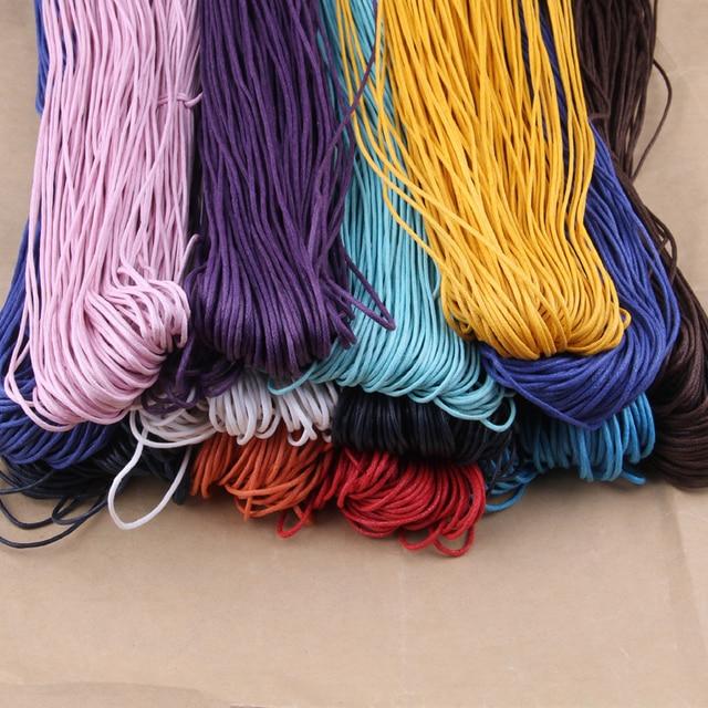 Shpping 10 метров 1,5 мм вощёная нить хлопок проволока шнурок ремешок ожерелье веревка бусины Fit шамбалы браслет ,вощеный шнур,фурнитура для бижутерии