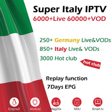 GOTiT Italia IPTV suscripción 6000 + en vivo Super Italia Alemania italiano albania-turquía adulto para M3U Android extrema2 Smart TV Box(China)