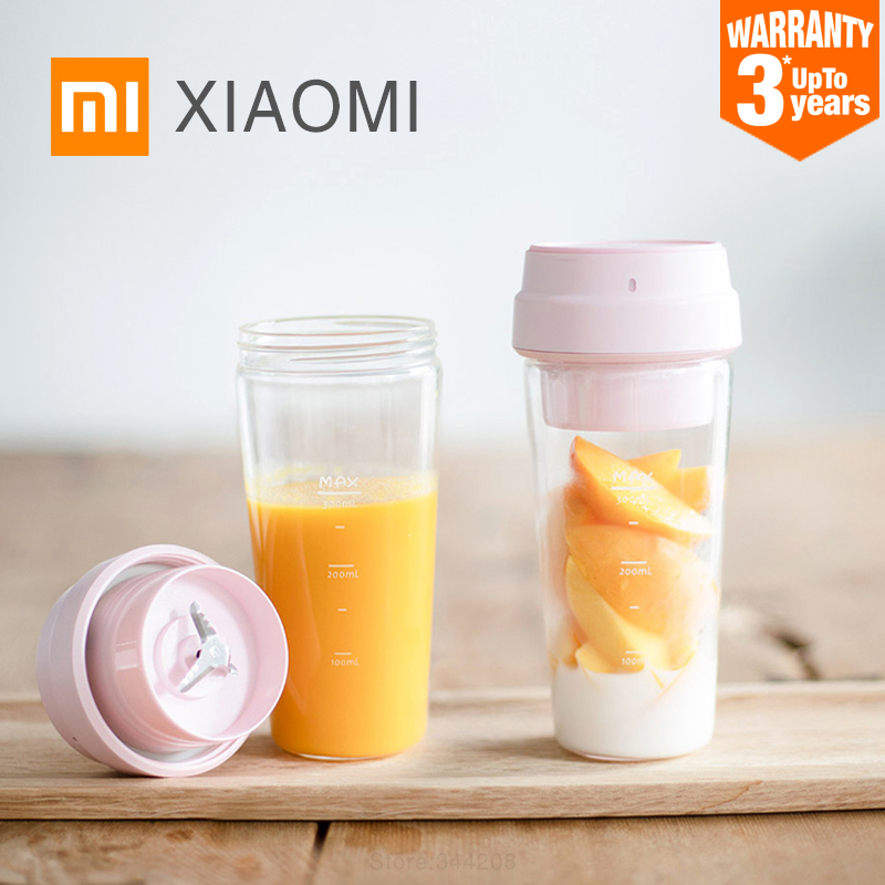 Xiaomi 17PIN Small Portable Juice Extractor Star Fruit Juicer 380ml Hiden Stainless Steel Intelligent Blades Fruit
