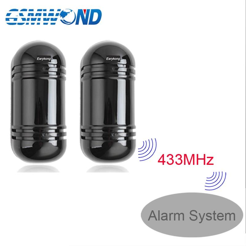 Outdoor Waterproof Infrared Beam Detector 433MHz Wireless   Wired detector  infrared barrier Detector