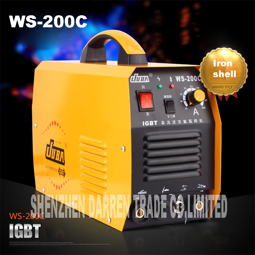 new portable WS-200C IGBT inverter TIG welder argon welder welding argon arc welding machine soldering iron new manual argon inverter igbt arc welder mma dc tig welding inverter machine