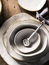 Antowall нестандартная кремово белая тарелка в скандинавском